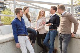 Eine Gruppe von Studierenden