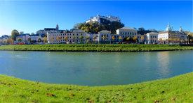 Blick auf Universität Salzburg und Festung Hohensalzburg