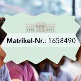 Matrikelnummer für Studentinnen und Studenten einer Hochschule