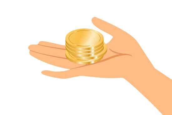 Gebende Hand mit Geld