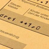 Steuerklasse und Kinderfreibetrag auf Lohnsteuerkarte (historisch)