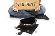 Student um Geld bittend