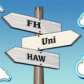 Wegweiser für Uni, FH und HAW
