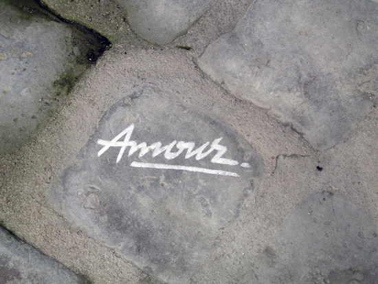 Stein auf dem das Wort