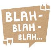 Sprechblase mit blah-blah-blah in Anführungszeichen