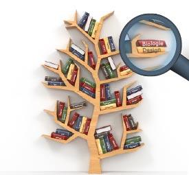Bücherregal in Baumform