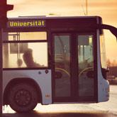Stadtbus mit der Endstation