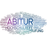 Wortwolke Abitur-Hochschulreife etc.