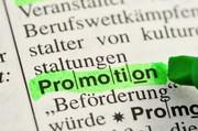Lexikoneintrag Promotion grün markiert